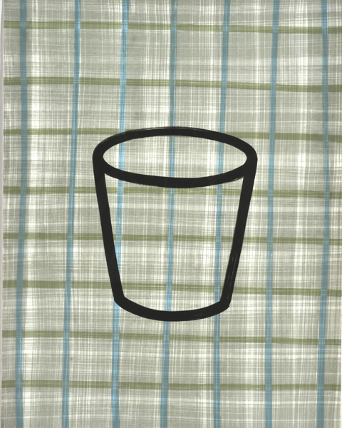 Cup on Tartan Background