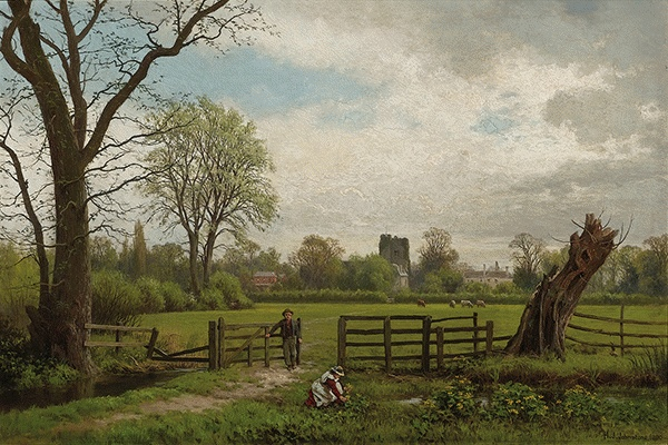 In the Meadows, Near Cookham 1880