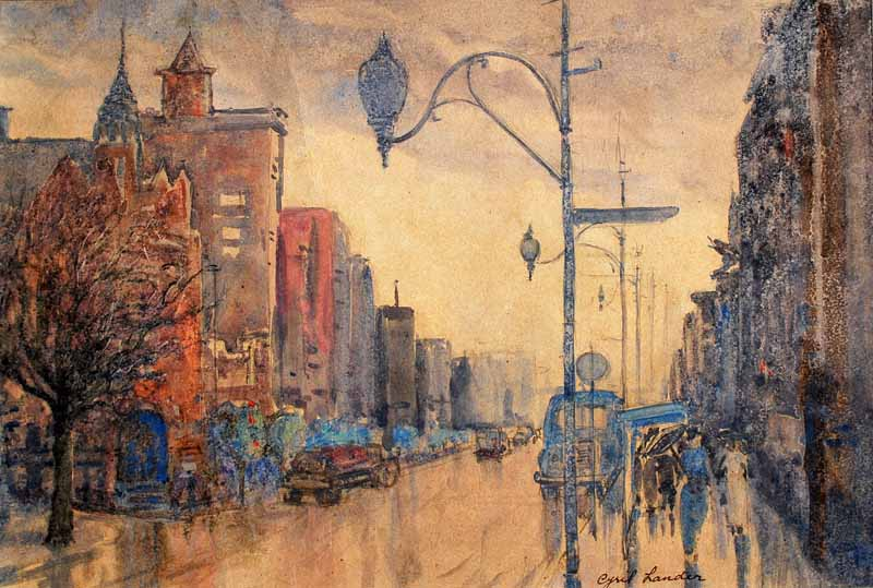 Works on paper cyril george lander australian art for 16 st georges terrace