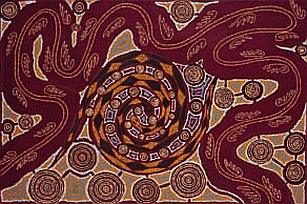 Snake and Goanna Dreaming, 1993