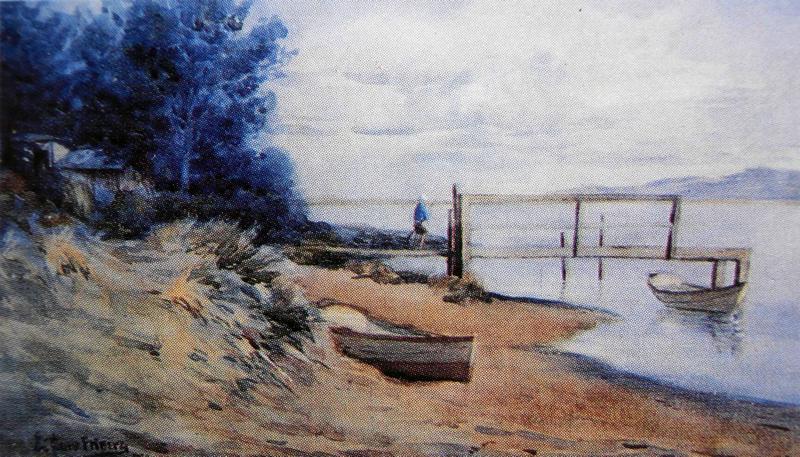 Fishing Scene 1920