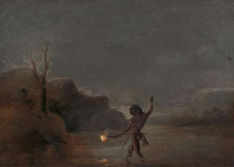 Untitled (Aborigine Fishing), c. 1853