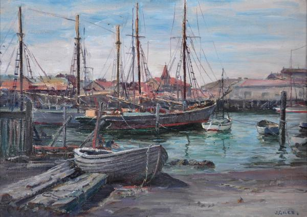 Ketches at Anchor Opposite Serles Boat Yard