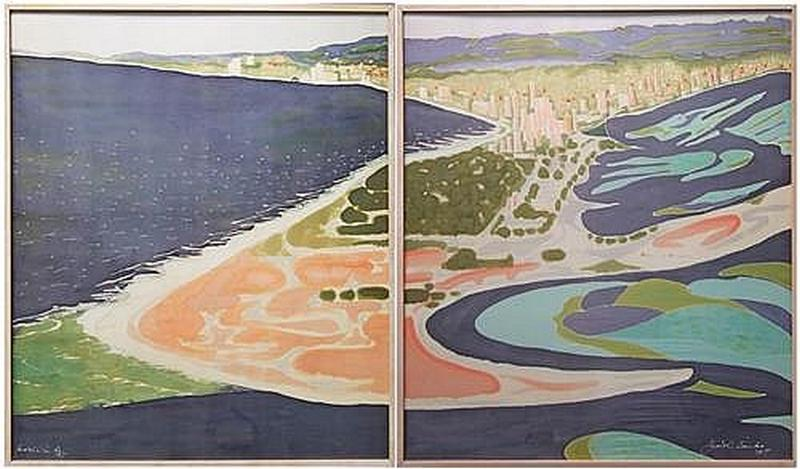 Nerang River Entrance I and II (Diptych)