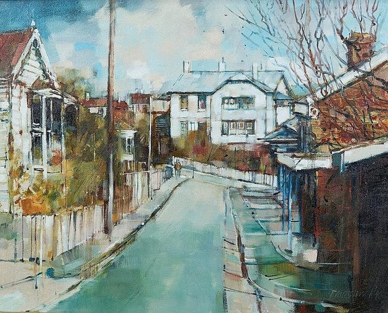 Hobart Street After Rain