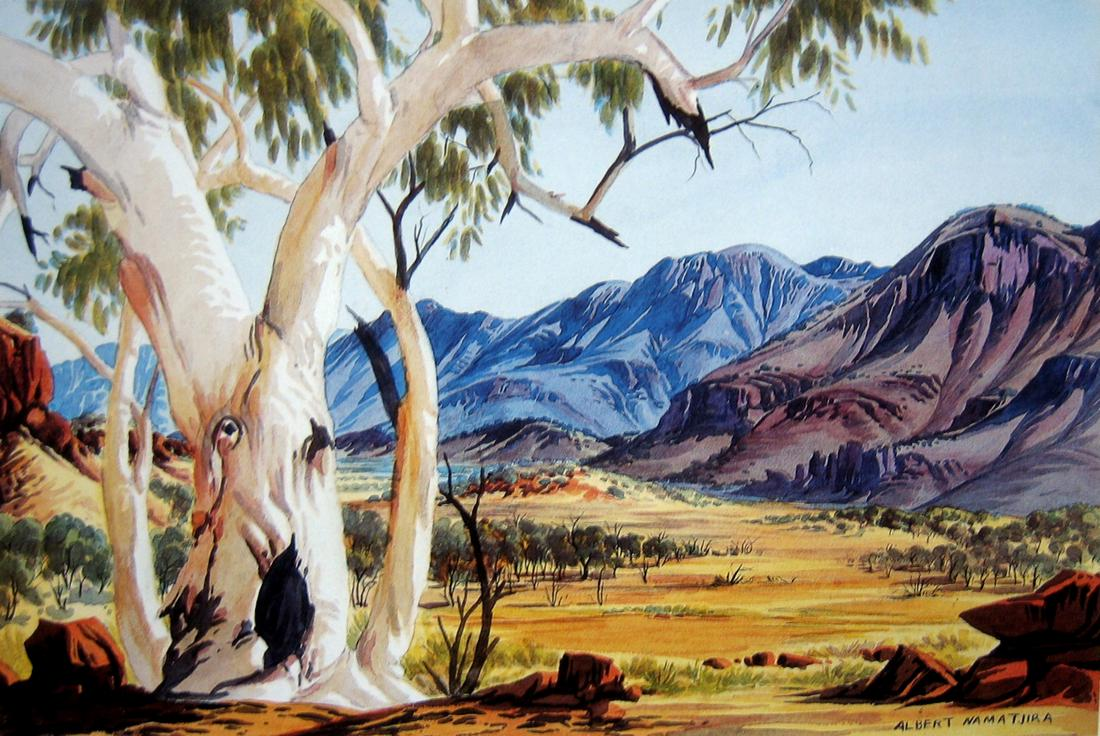 Works on paper albert namatjira page 3 australian for Painting for sale by artist