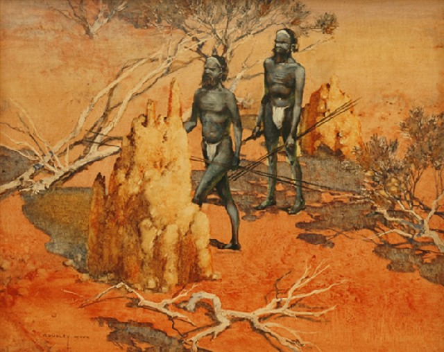 Termite Nest and Aborigines