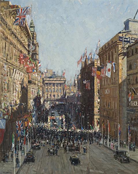 Victory Celebration, Martin Place, Sydney, 1919