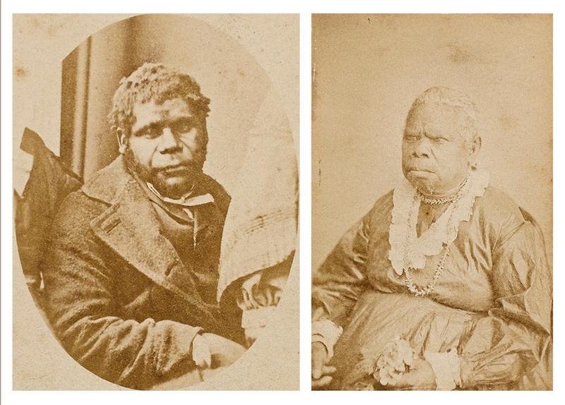 Two Portrait Photographs: William Lanney Circa (1870-1875); Truganini (circa 1870-1875)