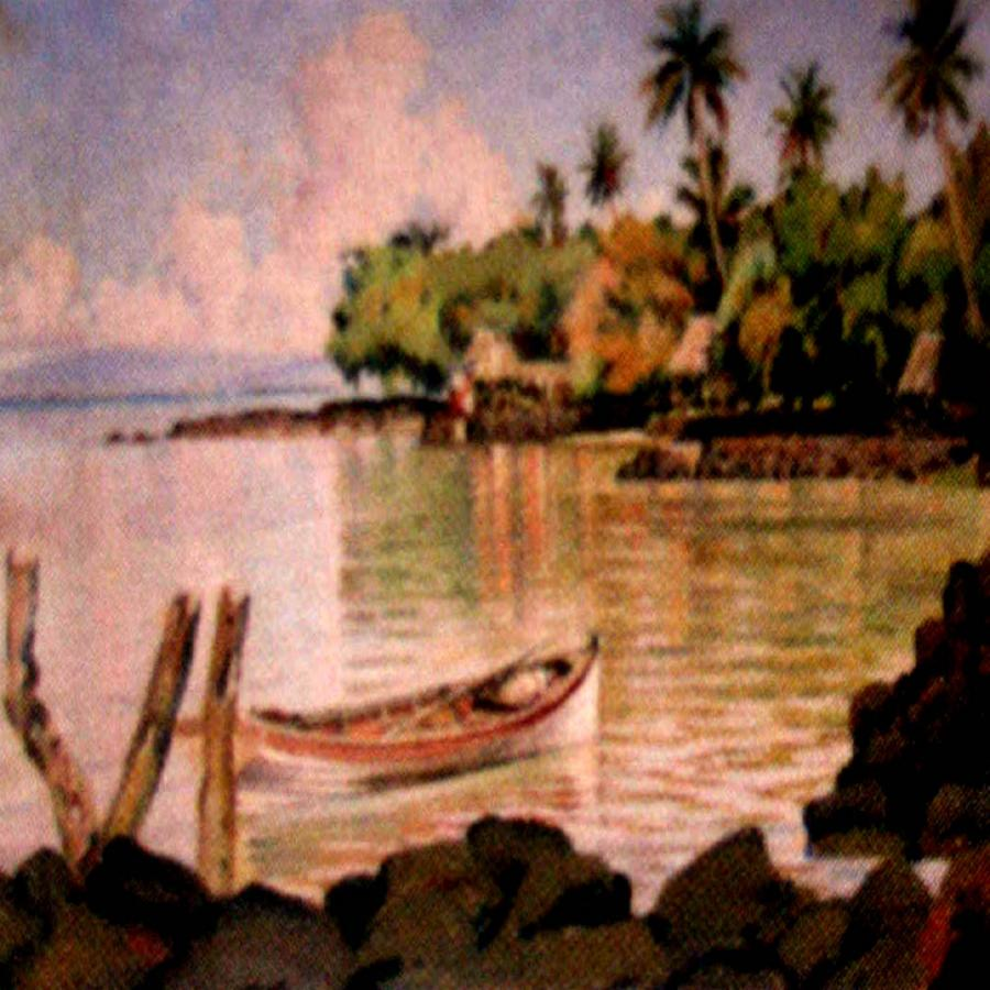 Fijian Bure on Beach