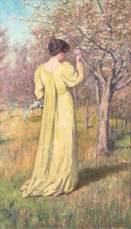 Mrs Mccubbin Picking Blossom (Spring) 1890