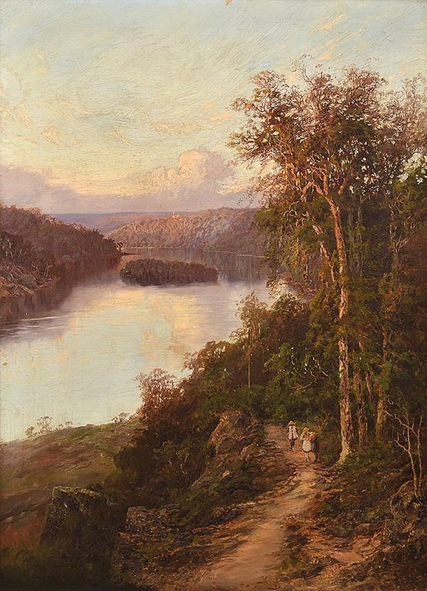 Lane Cove River from Cliffs Near Bridge, New South Wales C.1890-1901