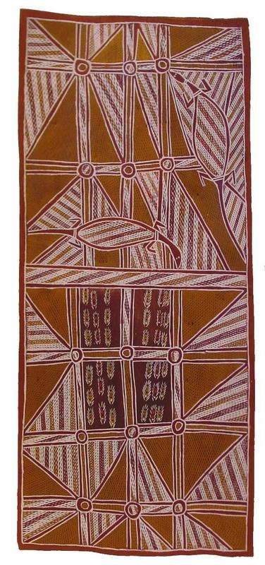 Sacred Totemic Goannas of the Djan'kawu Myth