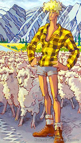 Sheep Farmer, High Country