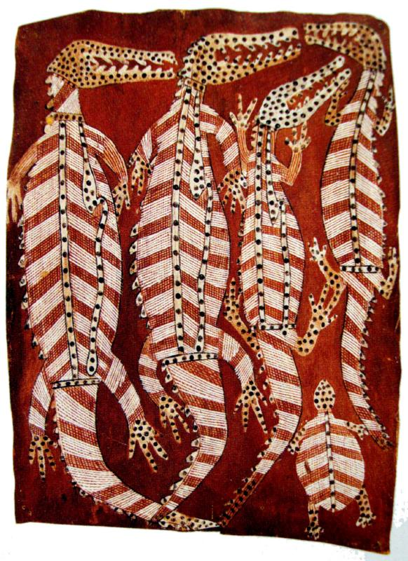 Bark Paintings Aboriginal Artist