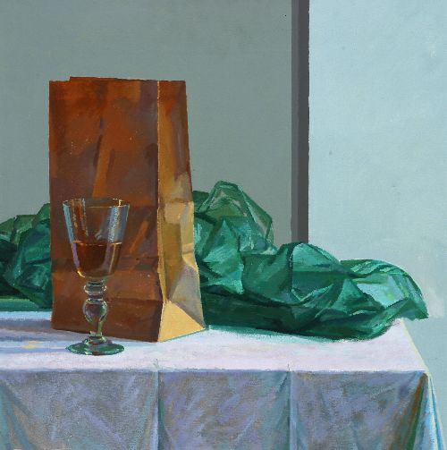 Still Life with Bag & Scarf