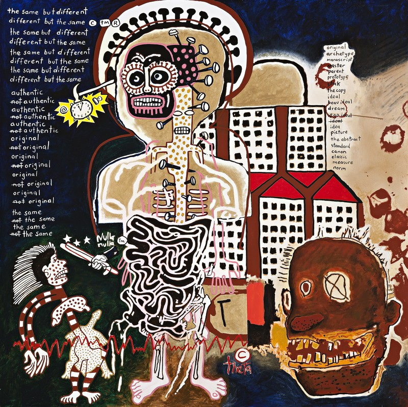 possession island gordon bennett Gordon bennett, possession island,1991, oil and synthetic polymer paint on canvas,162 × 260 cm collection museum of sydneycourtesy milani gallery, brisbane.