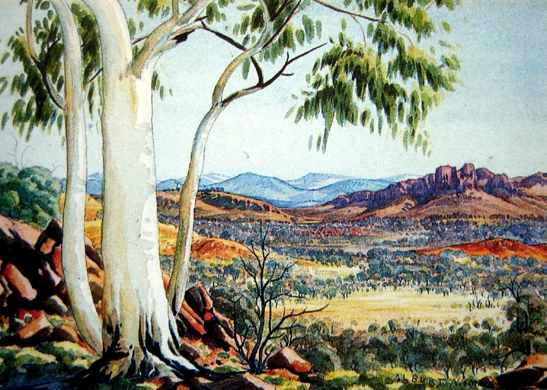 Works on paper albert namatjira page 15 australian for Painting for sale by artist