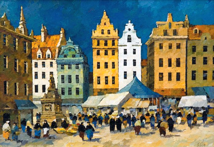 Image result for paintings of stockholm