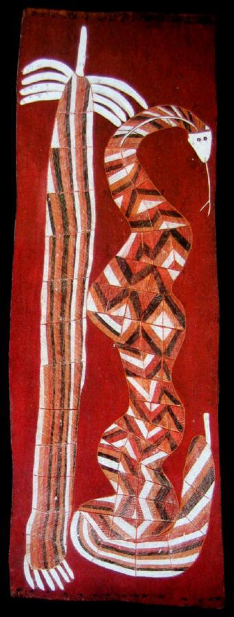 Snake and Pandanus c. 1980
