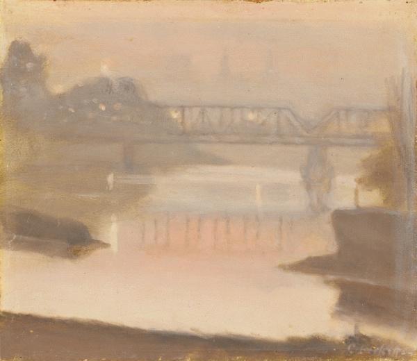 The Yarra, Sunset c. 1930