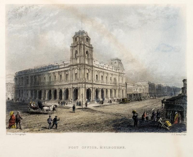 Post Office, Melbourne Circa 1850