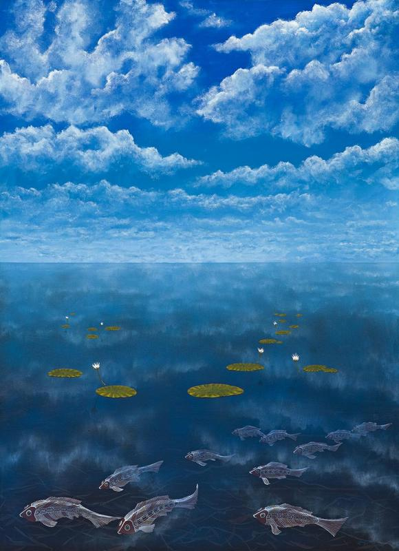 Guyi Ga Ginimbirri (Fish and Clouds), 1992