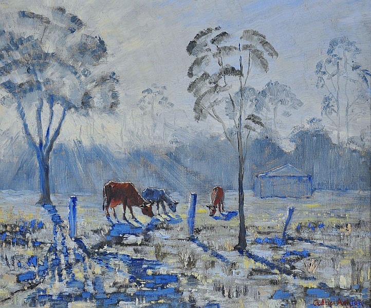 Sunrise and Cattle, 1952
