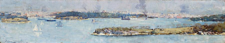 Panoramic VIew of Sydney Harbour, Across Cremorne, 1896