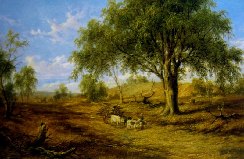 Landscape with Timber Cart and Driver