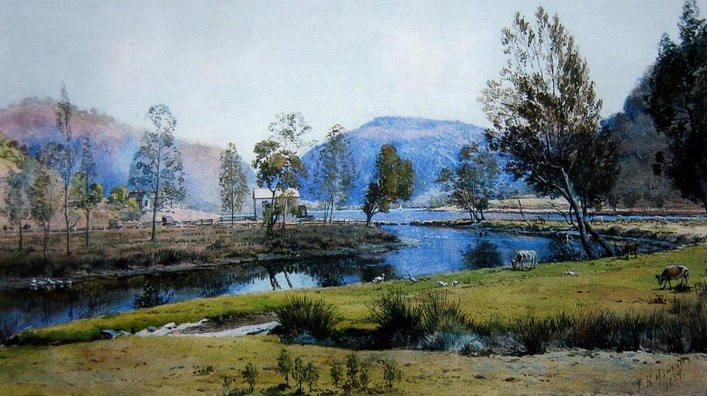 Works on paper julian rossi ashton australian art for South australia landscape
